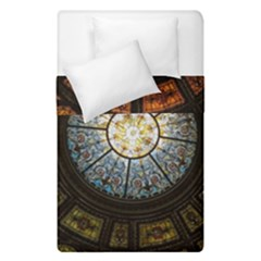 Black And Borwn Stained Glass Dome Roof Duvet Cover Double Side (single Size) by Nexatart