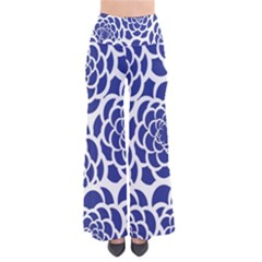 Blue And White Flower Background Pants by Nexatart