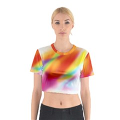 Blur Color Colorful Background Cotton Crop Top