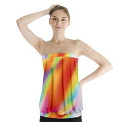Blur Color Colorful Background Strapless Top by Nexatart
