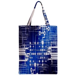 Board Circuits Trace Control Center Zipper Classic Tote Bag by Nexatart