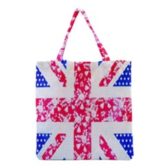 British Flag Abstract Grocery Tote Bag by Nexatart