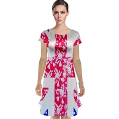 British Flag Abstract Cap Sleeve Nightdress by Nexatart