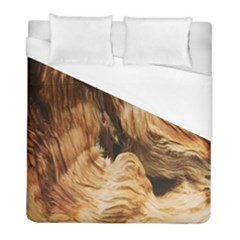 Brown Beige Abstract Painting Duvet Cover (full/ Double Size) by Nexatart