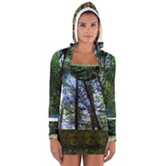 Trees And Trees And More Trees Women s Long Sleeve Hooded T Shirt by SusanFranzblau