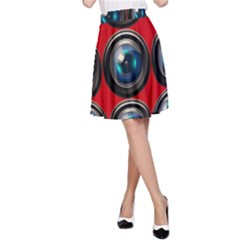 Camera Monitoring Security A Line Skirt by Nexatart
