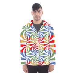 Candy Pattern  Hooded Wind Breaker (men)