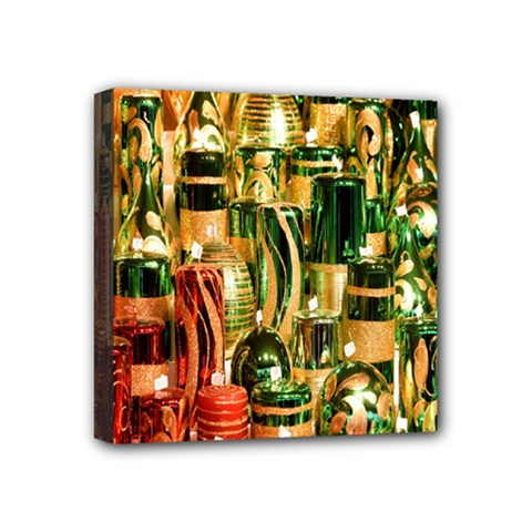 Candles Christmas Market Colors Mini Canvas 4  X 4  by Nexatart