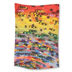 Car Painting Modern Art Large Tapestry by Nexatart