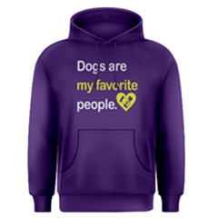 Dogs Are My Favorite People   Men s Pullover Hoodie by FunnySaying