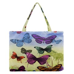 Butterfly Painting Art Graphic Medium Zipper Tote Bag by Nexatart