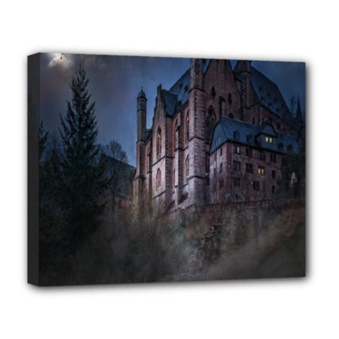 Castle Mystical Mood Moonlight Deluxe Canvas 20  X 16   by Nexatart