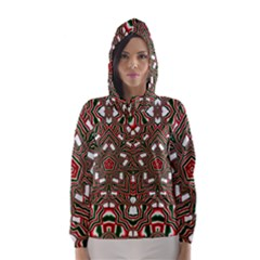 Christmas Kaleidoscope Hooded Wind Breaker (women)