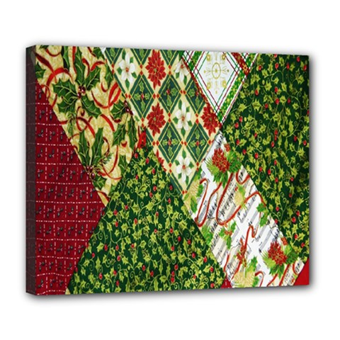 Christmas Quilt Background Deluxe Canvas 24  X 20   by Nexatart