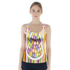 Christmas Tree Colorful Racer Back Sports Top