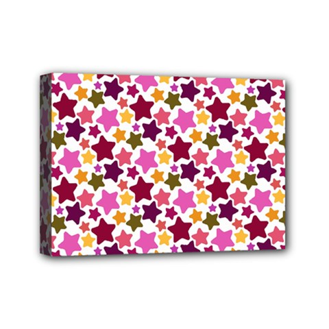 Christmas Star Pattern Mini Canvas 7  X 5  by Nexatart