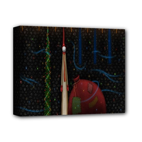 Christmas Xmas Bag Pattern Deluxe Canvas 14  X 11  by Nexatart