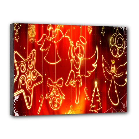 Christmas Widescreen Decoration Canvas 16  X 12