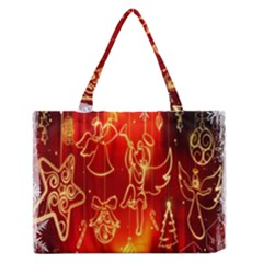 Christmas Widescreen Decoration Medium Zipper Tote Bag by Nexatart