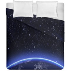Christmas Xmas Night Pattern Duvet Cover Double Side (california King Size) by Nexatart