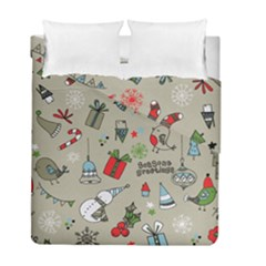 Christmas Xmas Pattern Duvet Cover Double Side (full/ Double Size) by Nexatart