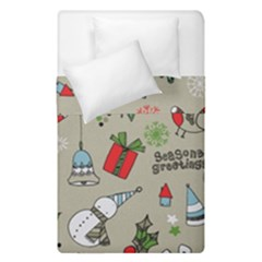 Christmas Xmas Pattern Duvet Cover Double Side (single Size) by Nexatart