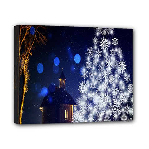Christmas Card Christmas Atmosphere Canvas 10  X 8  by Nexatart