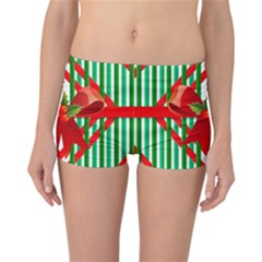 Christmas Gift Wrap Decoration Red Reversible Bikini Bottoms