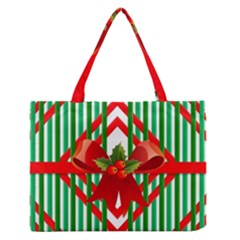 Christmas Gift Wrap Decoration Red Medium Zipper Tote Bag by Nexatart