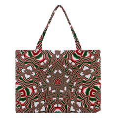 Christmas Kaleidoscope Medium Tote Bag by Nexatart