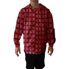 Christmas Paper Pattern Hooded Wind Breaker (kids)