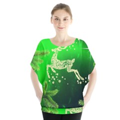 Christmas Reindeer Happy Decoration Blouse