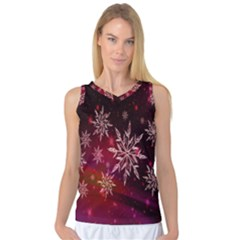 Christmas Snowflake Ice Crystal Women s Basketball Tank Top by Nexatart