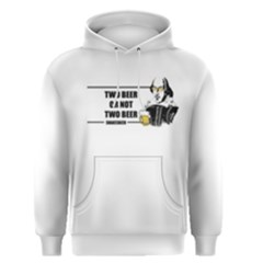 White Two Beer Or Not Two Beer  Men s Pullover Hoodie by FunnySaying