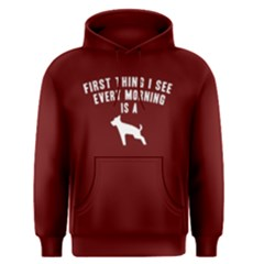 First Thing I See Every Moring Is   Men s Pullover Hoodie by FunnySaying