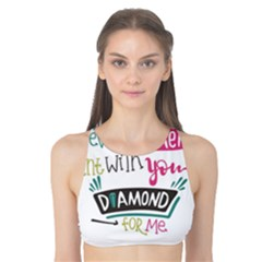 My Every Moment Spent With You Is Diamond To Me / Diamonds Hearts Lips Pattern (white) Tank Bikini Top by FashionFling