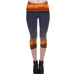 Sunset Capri Leggings  by SusanFranzblau