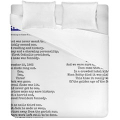 Kennedy Poem Duvet Cover Double Side (california King Size) by athenastemple