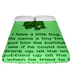 Little Frog Poem Fitted Sheet (california King Size) by athenastemple