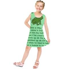Little Frog Poem Kids  Tunic Dress by athenastemple
