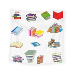 Bookworm Pattern Square Tapestry (small)