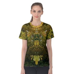 Vermont Tree Op Art Women s Cotton Tee