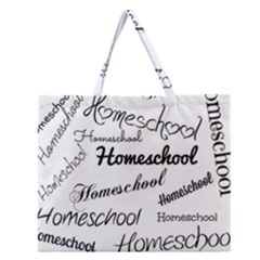 Homeschool Zipper Large Tote Bag by athenastemple