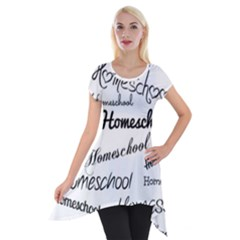 Homeschool Short Sleeve Side Drop Tunic by athenastemple