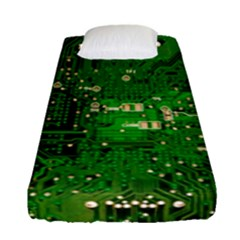 Circuit Board Fitted Sheet (single Size) by Nexatart