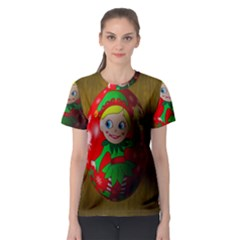 Christmas Wreath Ball Decoration Women s Sport Mesh Tee by Nexatart
