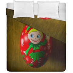 Christmas Wreath Ball Decoration Duvet Cover Double Side (california King Size) by Nexatart