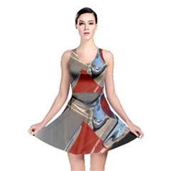 Classic Car Design Vintage Restored Reversible Skater Dress by Nexatart