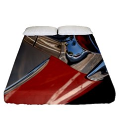 Classic Car Design Vintage Restored Fitted Sheet (queen Size) by Nexatart