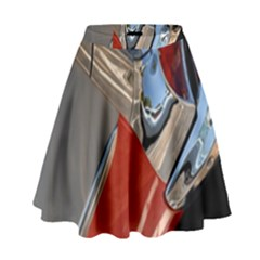 Classic Car Design Vintage Restored High Waist Skirt by Nexatart